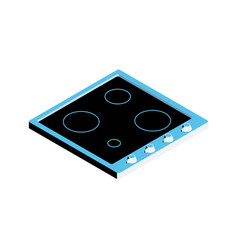 Induction cooker icon vector