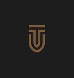 initial letters tu logo vector image