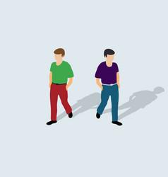 Isometric businessman walking vector