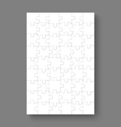 jigsaw puzzle mockup templates 54 pieces vector image