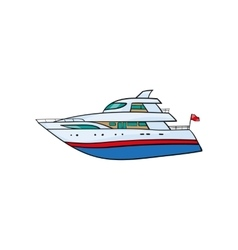 Kids toy yacht vector