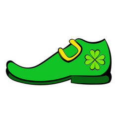 leprechaun shoe icon icon cartoon vector image