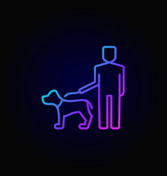 man walking with a dog icon vector image