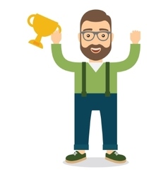 Man with cup vector