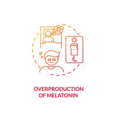 Melatonin overproduction concept icon vector