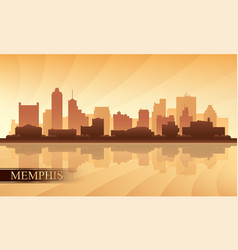 Memphis city skyline silhouette background vector
