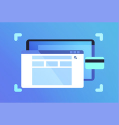 mobile app search bar network application vector image