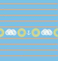 nautical seamless pattern with sun vector image