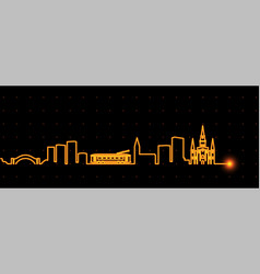new orleans light streak skyline vector image
