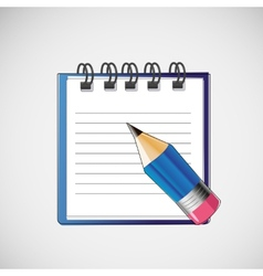 Notebook with clean sheets un pencil vector