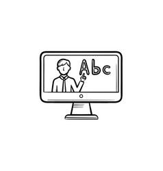online education hand drawn outline doodle icon vector image