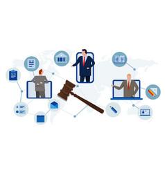 online legislation court legal advice consultant vector image