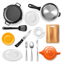 pan kitchenware or cookware for cooking vector image