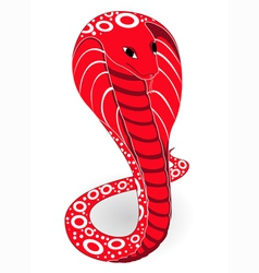 Red cobra vector