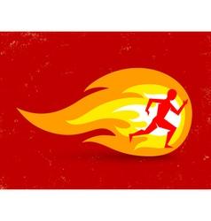 Running fire vector