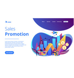 Sales growth concept landing page vector