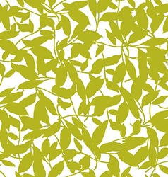 seamless floral patter with leaves vector image