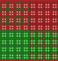 set new year patterns with tartan and snowflake vector image
