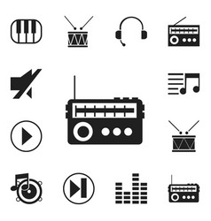 Set of 12 editable melody icons includes symbols vector