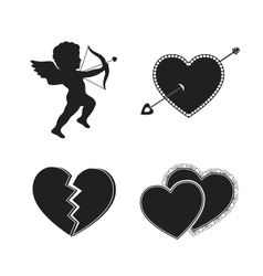 set valentine tattoos vector image