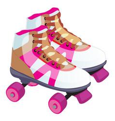 Skate retro design a roller skate classic vector