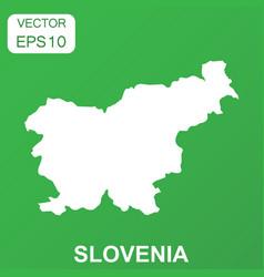 slovenia map icon business concept slovenia vector image