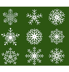Snowflakes icon collection shape vector