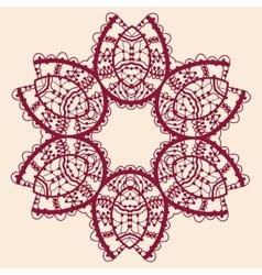 Stylized flower Ornamental outline mandala vector image