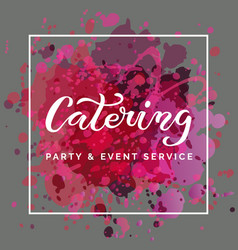 Template catering vector