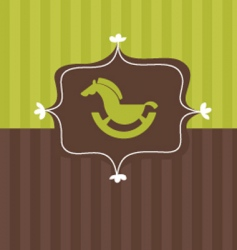 toy horse frame vector image