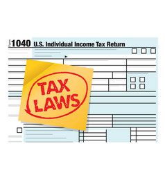 United states income tax laws concept theme vector