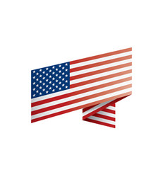usa flag on a white vector image