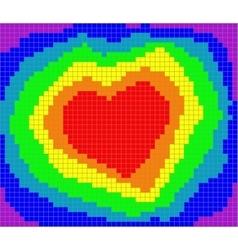 Valentine rainbow heart vector