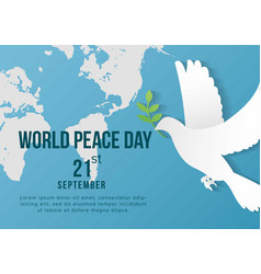 world peace day template design for banner vector image