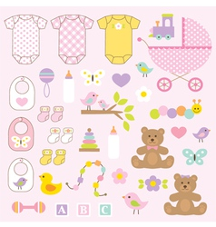 baby girl clipart vector image vector image