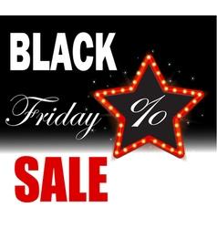 Black Friday Poster Sale Black Friday discounts vector image