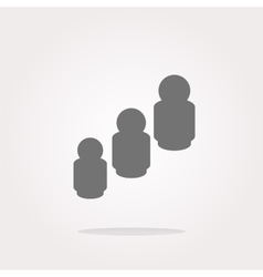 business man silhouette icon web app button vector image vector image