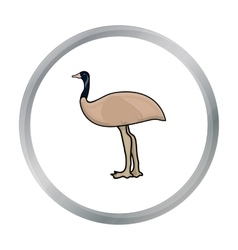 Emu icon in cartoon style isolated on white vector image vector image
