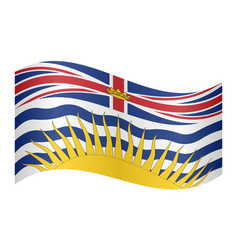 flag of british columbia waving white background vector image