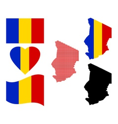Map of the Republic of Chad vector image vector image