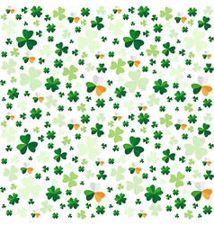 Seamless pattern from clover leaves vector