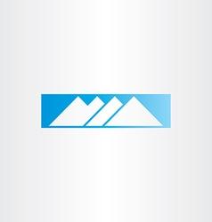 winter snow mountain blue icon vector image vector image