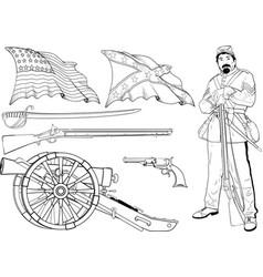 cyvil war set vector image