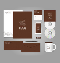 Geometric corporate identity template vector image