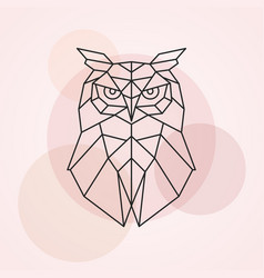 geometric head of an owl abstract vector image