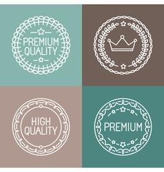 premium quality emblems vector image
