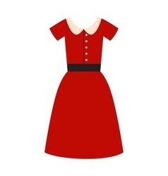 Romantic model elegance red dress fashion vector image