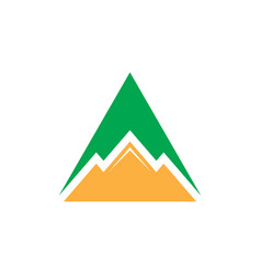 triangle mountain business logo vector image