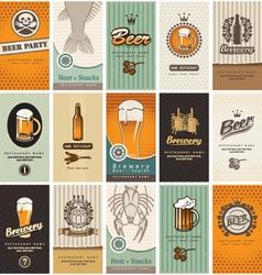 beer card vector image vector image