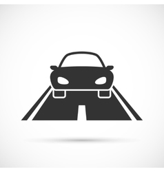 Car on the road icon vector image